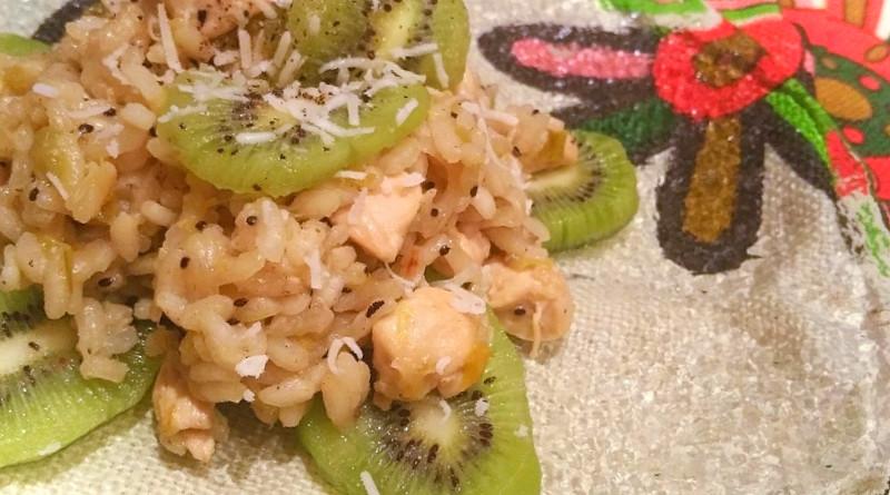 risotto con kiwi, porri e bocconcini di pollo - the minutes fly - web magazine
